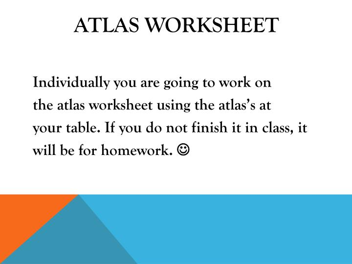 Atlas Worksheet