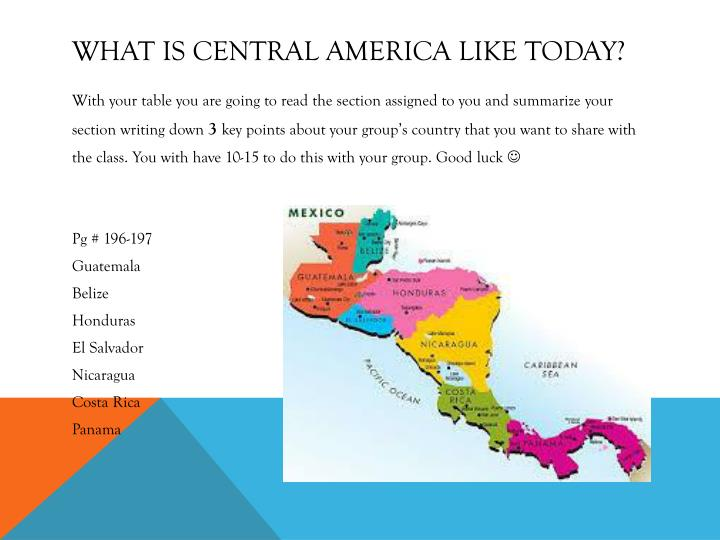 What is central America like today?