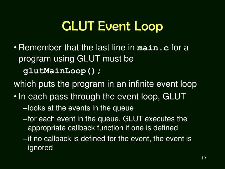 GLUT Event Loop