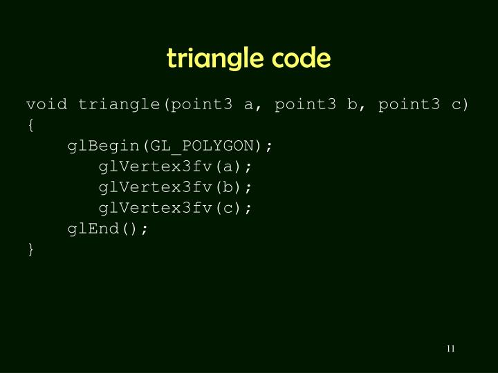 triangle code