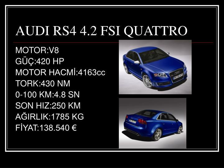 AUDI RS4 4.2 FSI QUATTRO