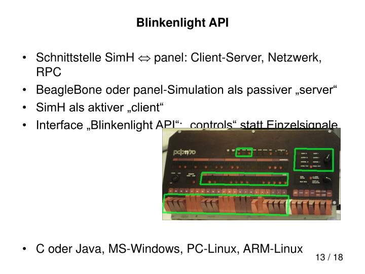 Blinkenlight API