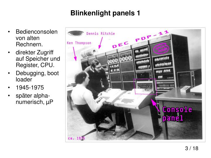 Blinkenlight panels 1