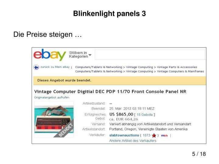 Blinkenlight panels 3