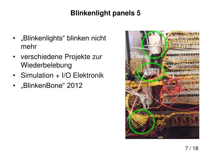Blinkenlight panels 5
