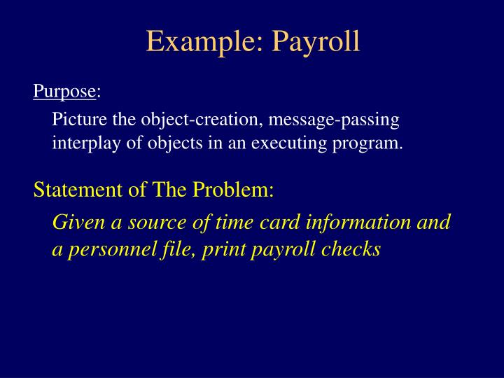 Example payroll