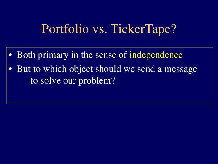 Portfolio vs. TickerTape?