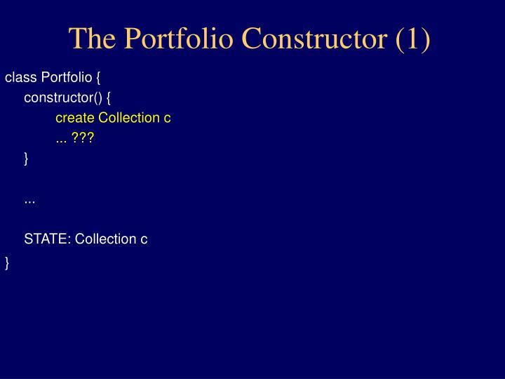 The Portfolio Constructor (1)
