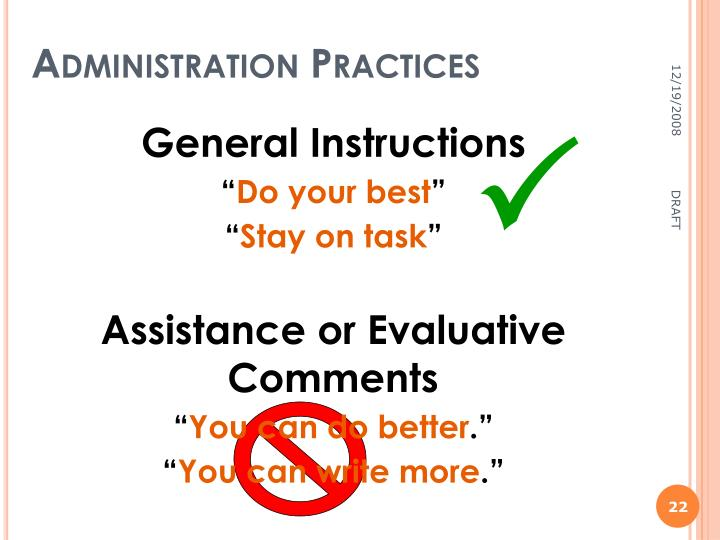 Administration Practices