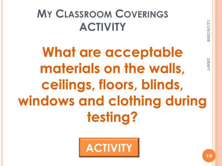 My Classroom Coverings