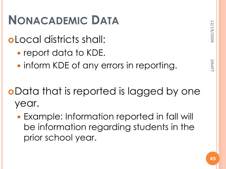 Nonacademic Data