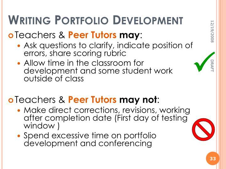 Writing Portfolio Development