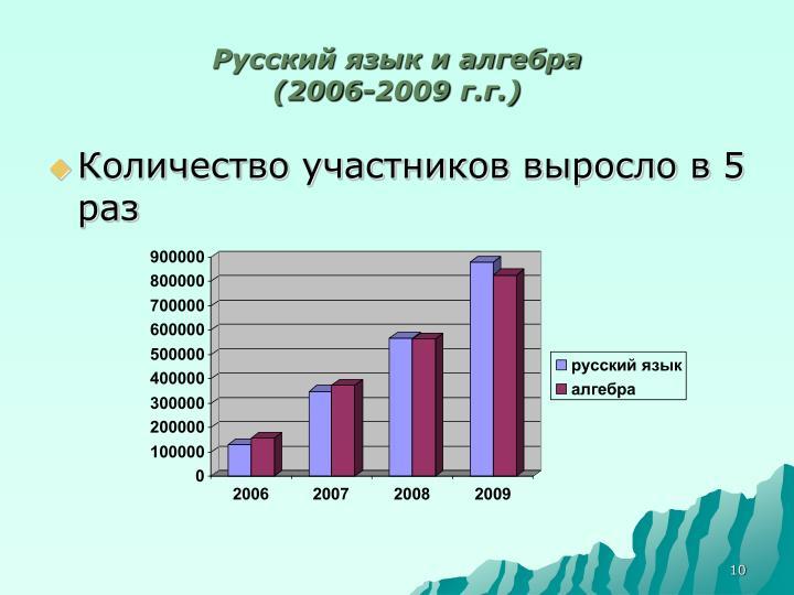 Русский язык и алгебра