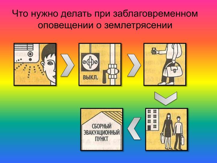 Что нужно делать при заблаговременном оповещении о землетрясении