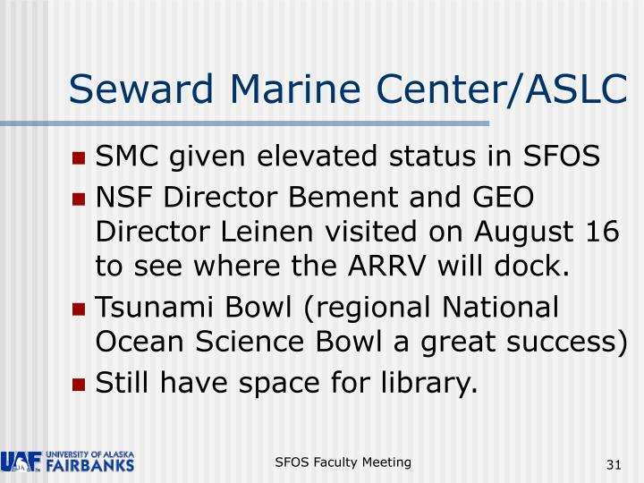 Seward Marine Center/ASLC