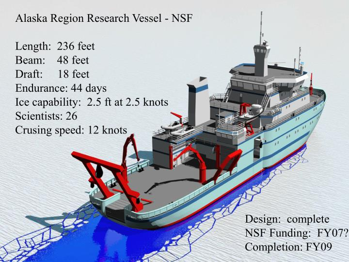 Alaska Region Research Vessel - NSF