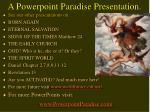 a powerpoint paradise presentation