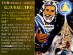 deliverance through resurrection