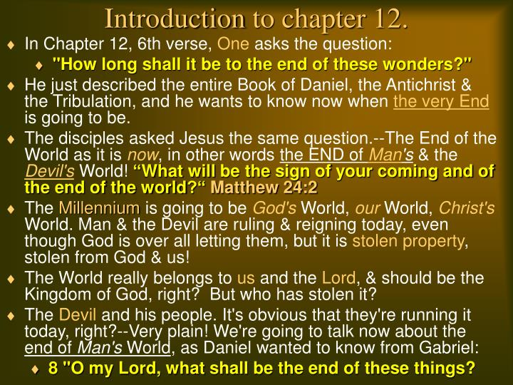 Introduction to chapter 12