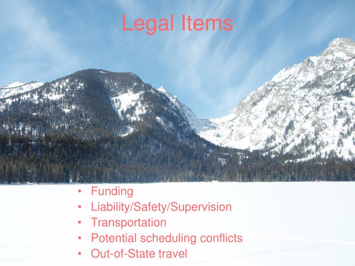 Legal Items