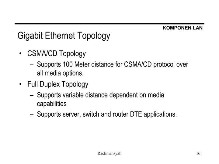 Gigabit Ethernet Topology