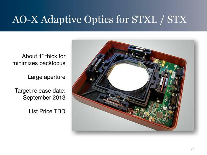 AO-X Adaptive Optics for STXL / STX