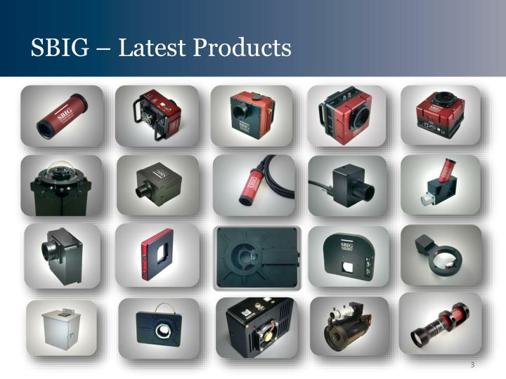 SBIG – Latest Products