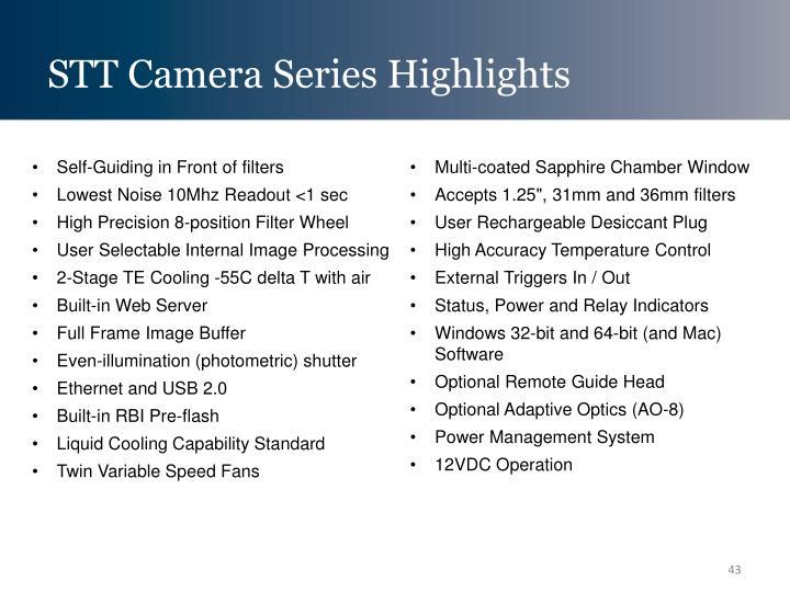 STT Camera Series Highlights