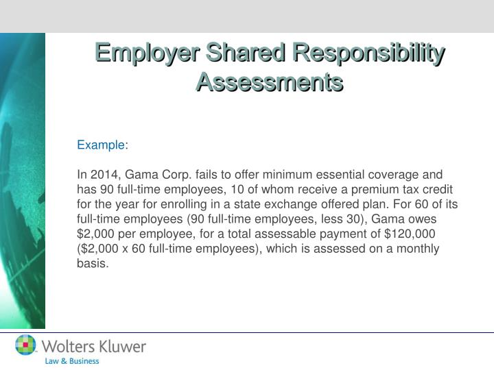 Employer Shared Responsibility Assessments