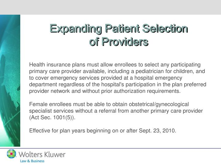 Expanding Patient Selection