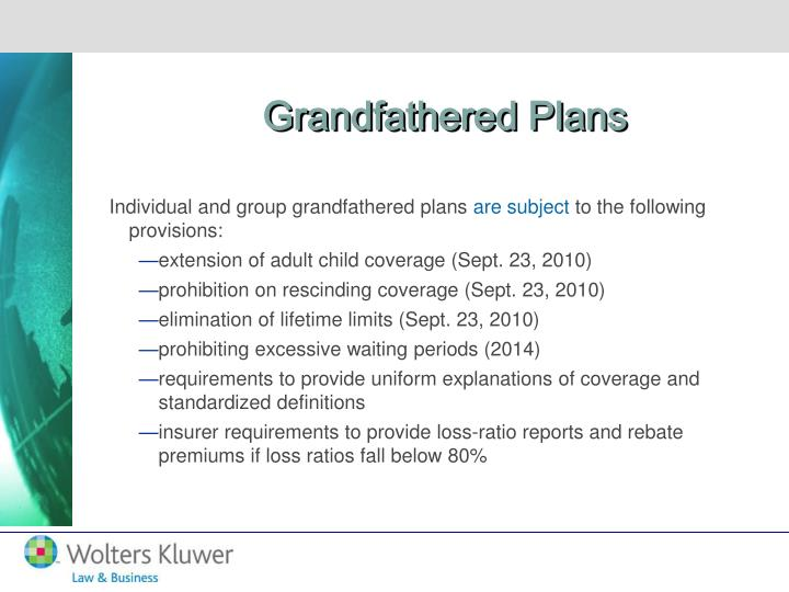 Grandfathered Plans