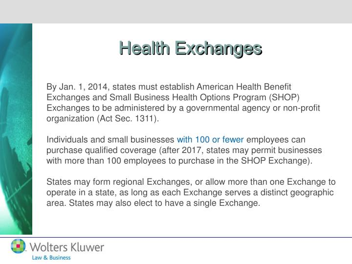 Health Exchanges