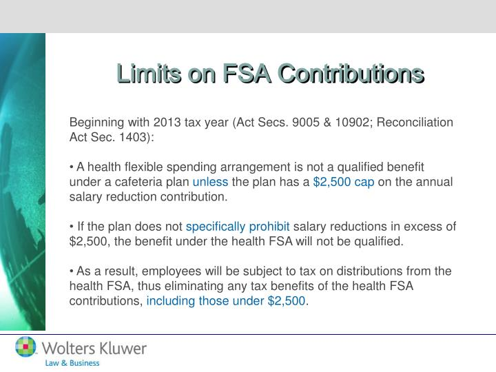 Limits on FSA Contributions