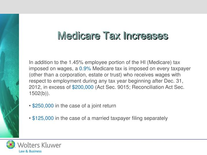 Medicare Tax Increases