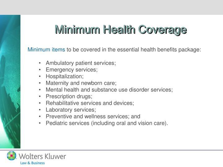 Minimum Health Coverage