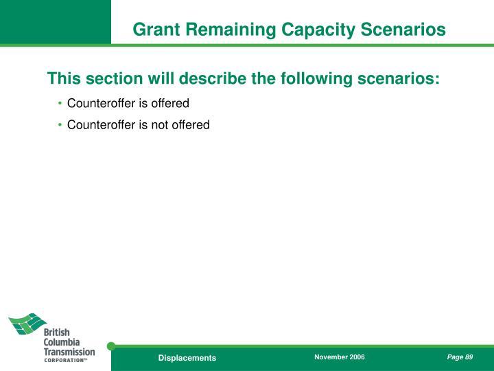 Grant Remaining Capacity Scenarios