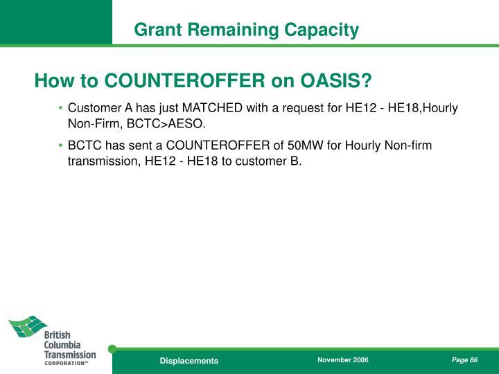 Grant Remaining Capacity