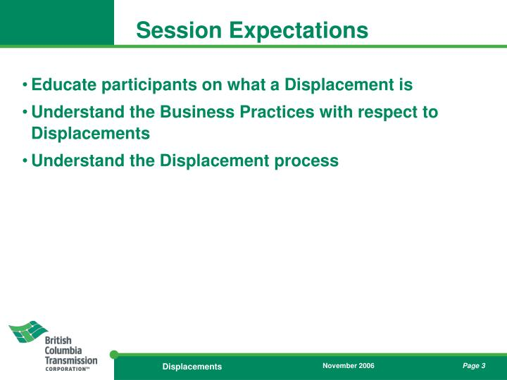 Session Expectations