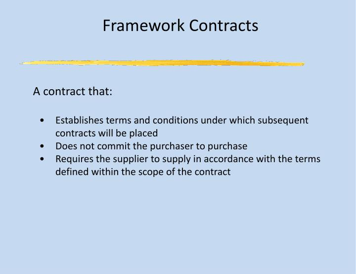 Framework Contracts