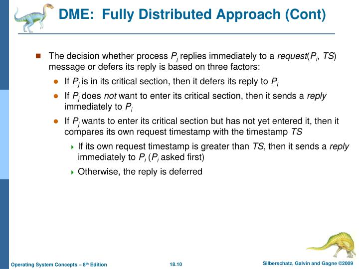 DME:  Fully Distributed Approach (Cont)