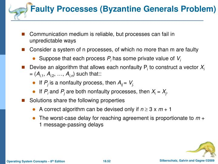 Faulty Processes (Byzantine Generals Problem)