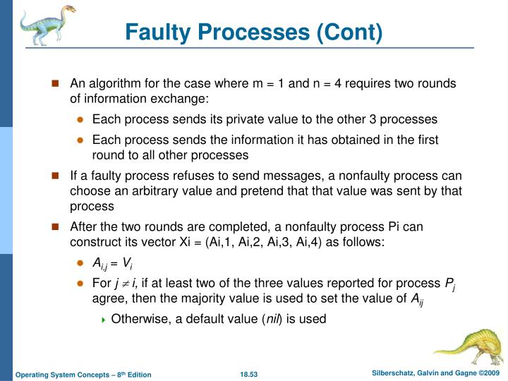 Faulty Processes (Cont)