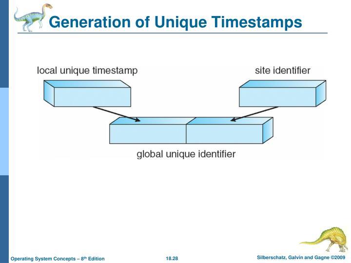 Generation of Unique Timestamps