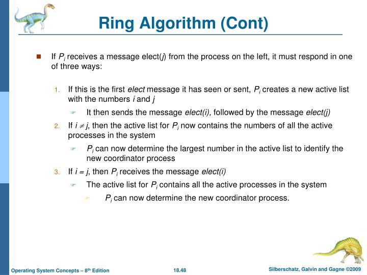 Ring Algorithm (Cont)