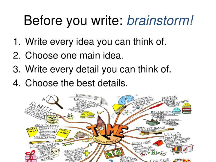 Before you write: