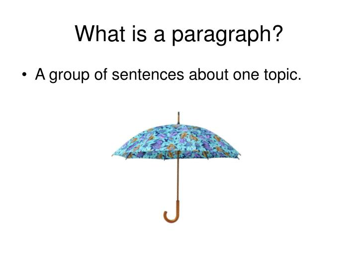 What is a paragraph