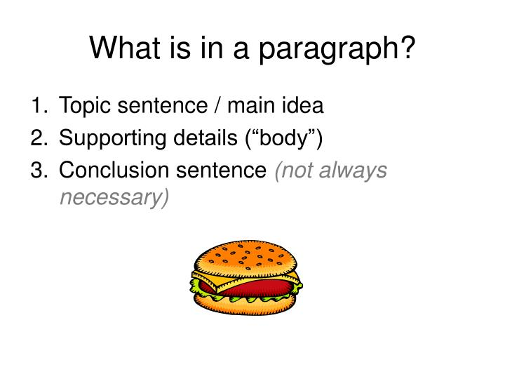 What is in a paragraph?