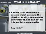 the robotics primer what is in a robot