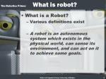the robotics primer what is robot