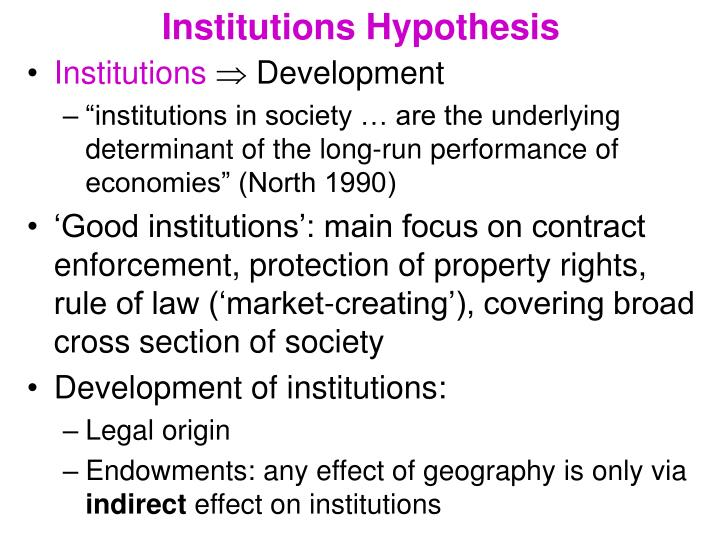 Institutions Hypothesis